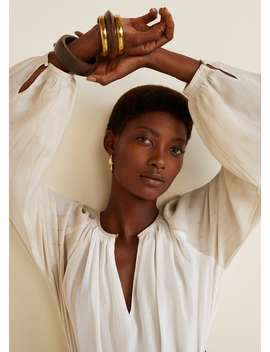 Блузка с металлизированной нитью by Mango