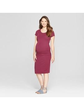 Maternity Short Sleeve Shirred T Shirt Dress   Isabel Maternity By Ingrid & Isabel™ by Isabel Maternity By Ingrid & Isabel