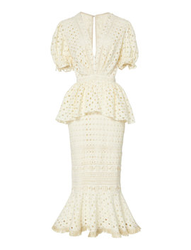 Lovers Bridgelush Peplum Cotton Dress by Johanna Ortiz