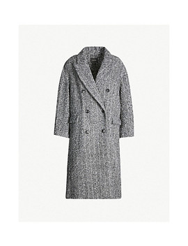 Double Breasted Textured Alpaca And Wool Blend Coat by Isabel Marant