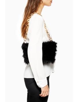 Flo Marabou Shoulder Bag by Topshop