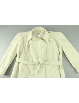 Nwt $2,395 Balenciaga Ladies Ruched Cotton Belted Trench Coat Size 12 by Givenchy (Paris)