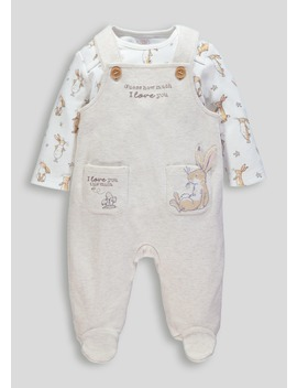 Unisex Guess How Much I Love You Dungarees & Bodysuit (Newborn 6mths) by Matalan