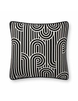 Now House By Jonathan Adler Deco Jacquard Pillow, Black And White by Now House By Jonathan Adler