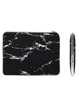 "Top Case   Marble Pattern Zipper Sleeve Bag Case Compatible All Laptop 11"" 11 Inch Mac Book Air/Ultrabook / Chromebook Mouse Pad   Black by Top Case"