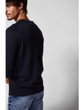 Textured Weave Organic Cotton Jumper by Springfield
