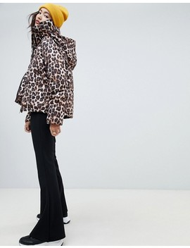 Na Kd Leopard Print Padded Jacket In Brown by Na Kd
