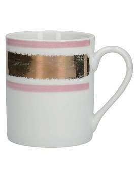 Blush Pink And Gold Mug by Dunelm