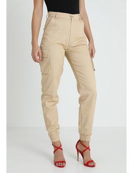 Plain Cargo Trouser Sand   Pantalon Classique by Missguided