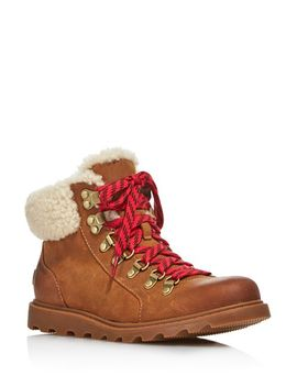 Women's Ainsley Round Toe Leather Hiking Boots   100 Percents Exclusive by Sorel
