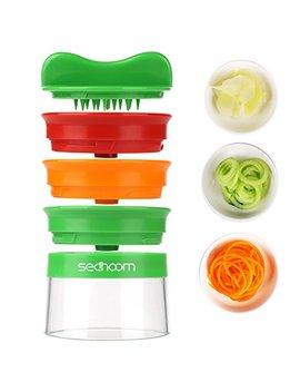 Spiralizer Hand Held Sedhoom Spiralizers Vegetable 3 Blade Vegetable Spiral Slicer Handheld Spiralizer by Sedhoom