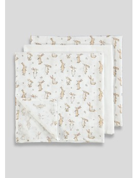 3 Pack Guess How Much I Love You Muslin Squares (One Size) by Matalan