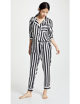 Silky Striped Pj Set by Plush