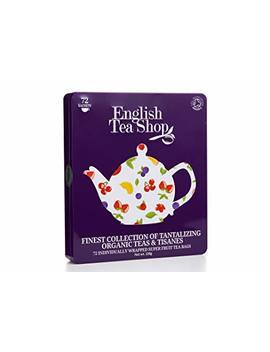 English Tea Shop Organic Super Fruit Gift Tin Tea Bags, Pack Of 72 by English Tea Shop