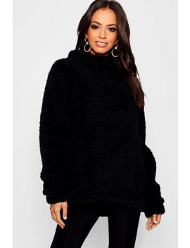 Teddy Faux Fur Hoody by Boohoo