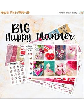 New Release Sale Sweet Valentine Weekly Kit   For Big Happy Planner Stickers   Valentine's Day by Etsy