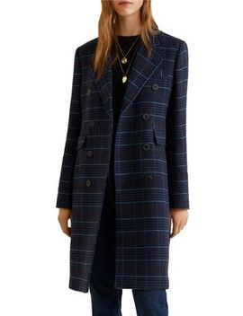 Structured Checkered Coat by Mango