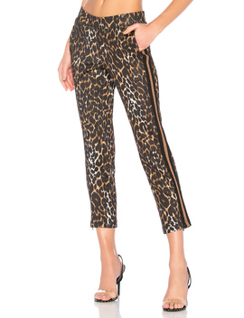 Leopard Crop Track Pant by Pam & Gela