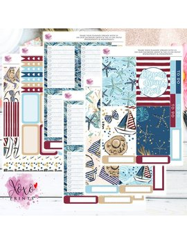 Nautical Sail Weekly Kit For The Big Happy Planner by Etsy