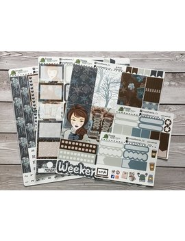 Big Hp Winter Warmth Weekly Kit Planner Stickers With Date Covers Washi Checklist Boxes Full And Half Boxes by Etsy