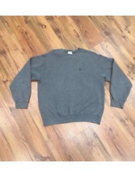 Vintage Nike Gray Swoosh Crewneck Sweatshirt   Mens Size L   90s by Nike