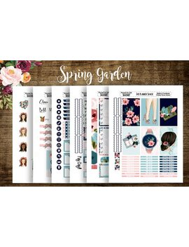 The Garden | 2018 Big Happy Planner | Printable Planner Stickers | Planner Printables | Spring | Summer | Garden | Girls | Cut Files by Etsy