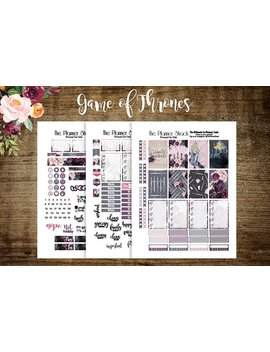 Game Of Thrones | Happy Planner | Printable Planner Stickers | Planner Printables | Printables | Weekly | Got Weekly | Got Printables by Etsy