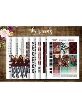 The Woods | 2018 Big Happy Planner | Printable Planner Stickers | Planner Printables | Big Happy Planner | Winter | Diy by Etsy