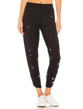 Pablo Pant With Shirring & Silver Foil Stars by Michael Lauren