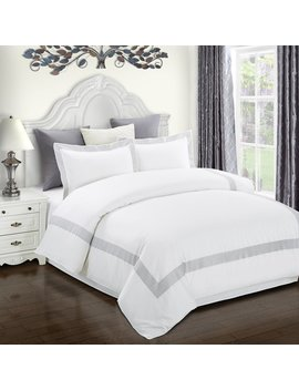 Superior Glenmont Embroidered Cotton Duvet Cover Set by Superior