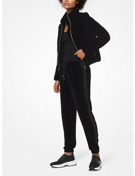 Velvet Puffer Jacket by Michael Michael Kors