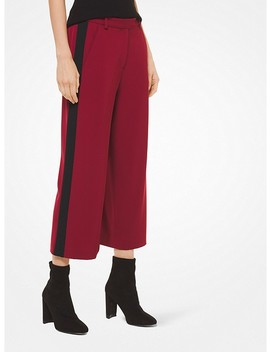 Contrast Stripe Stretch Viscose Culottes by Michael Michael Kors