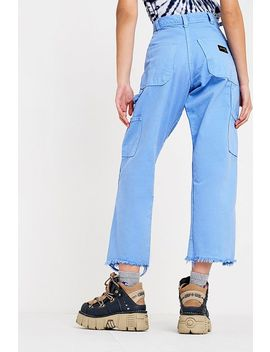 Urban Renewal Remade Stan Ray Blue Crop Trousers by Urban Renewal