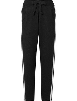 Striped Cotton Blend Track Pants by Atm Anthony Thomas Melillo