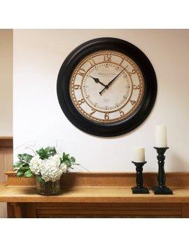 "Better Homes & Gardens Modern 28"" Black Traditional Wall Clock by Better Homes & Gardens"