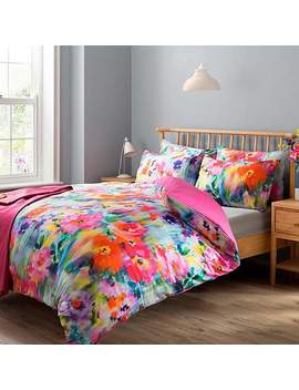 Summer Digitally Printed 100 Percents Cotton Duvet Cover And Pillowcase Set by Dunelm