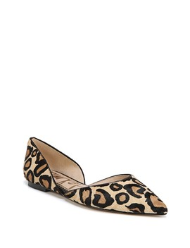 Rodney Genuine Brahman Hair D'orsay Pointed Toe Flat by Sam Edelman