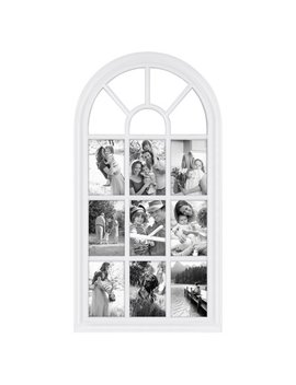"""28"""" X 14"""" White Arched Window Pane Collage Picture Frame by Generic"""