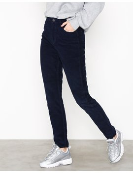Pcfay Hw Corduroy Mom Pants Dc by Pieces