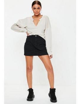 Black Combat Denim Mini Skirt by Missguided