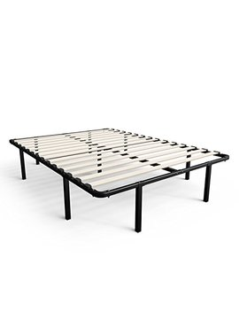 Zinus 14 Inch My Euro Smart Base / Wooden Slat / Mattress Foundation / Platform Bed Frame / Box Spring Replacement, Full by Amazon
