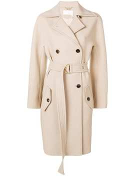 Belted Double Breasted Coat by Chloé