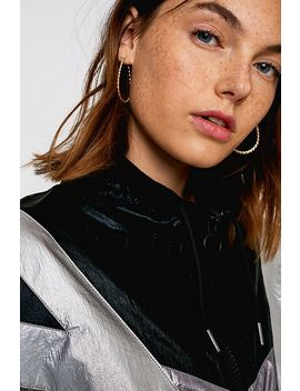 Uo Black Metallic Shell Jacket by Urban Outfitters