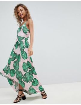 Lasula Palm Print Maxi Dress by Lasula
