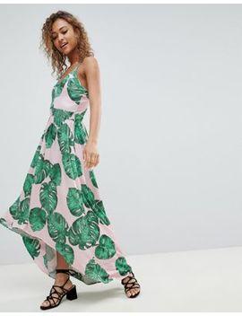 Lasula Palm Print Maxi Dress by Lasula