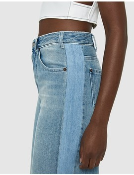 Panel Detail Wide Leg Jean by Mm6 Maison Margiela