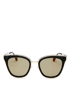 Women's Lizzy Glitter Cat Eye Sunglasses, 50mm by Jimmy Choo