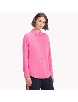 Long Sleeved Satin Shirt by Tommy Hilfiger