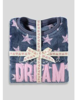 Girls Dream Fleece Pyjama Set (5 13yrs) by Matalan