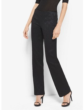 Metallic Stretch Jacquard Pants by Michael Kors Collection